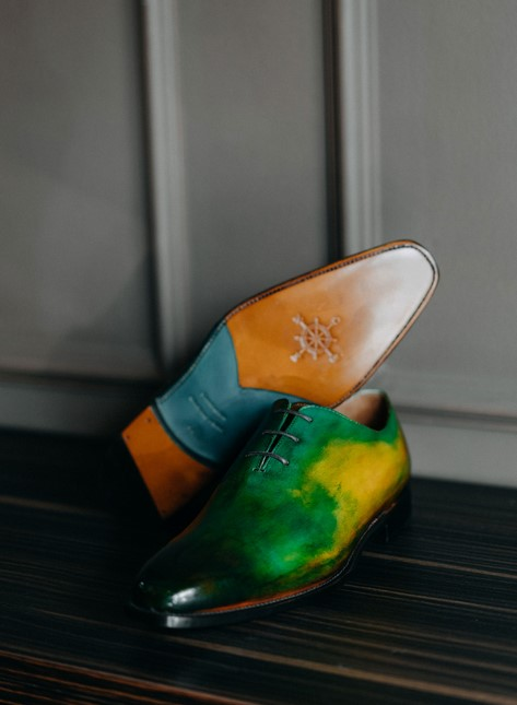 Giày tây da green field
