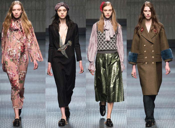 Bộ sưu tập thời trang Gucci là một bức tranh tổng hòa của những xúc cảm chợt đến đầy ngẫu hứng