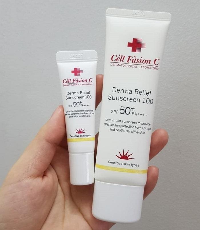 Kem chống nắng Cell Fusion C thuộc dòng kem giành cho da nhạy cảm