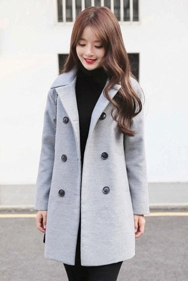 Áo dạ nữ kiểu cổ vest