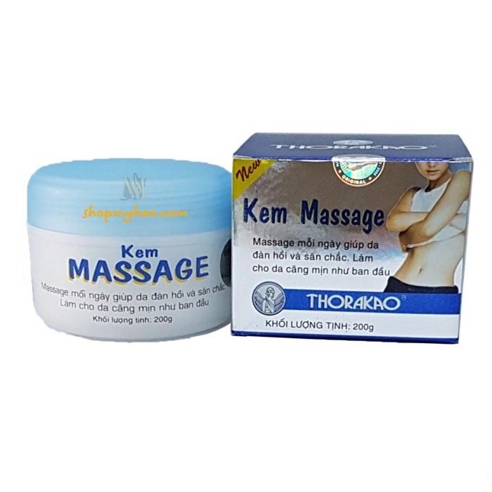 Kem massage Thorakao với thành phần phù hợp với mọi loại da