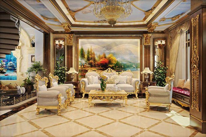 Phong cách nội thất Luxury truyền thống
