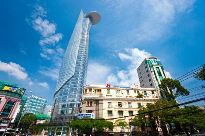 Bitexco Financial Tower được dựa trên ý tưởng thiết kế lấy hình ảnh từ búp sen