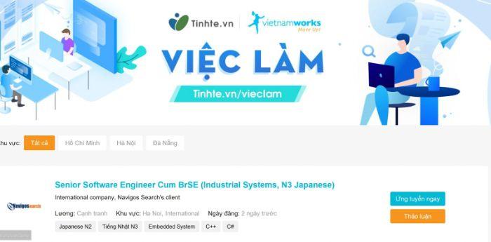 Vietnamworks là trang web tuyển dụng việc làm uy tín