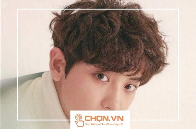 Tóc nam xoăn bồng bềnh phong cách Hàn Quốc