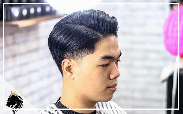 Kiểu tóc side part mặt tròn