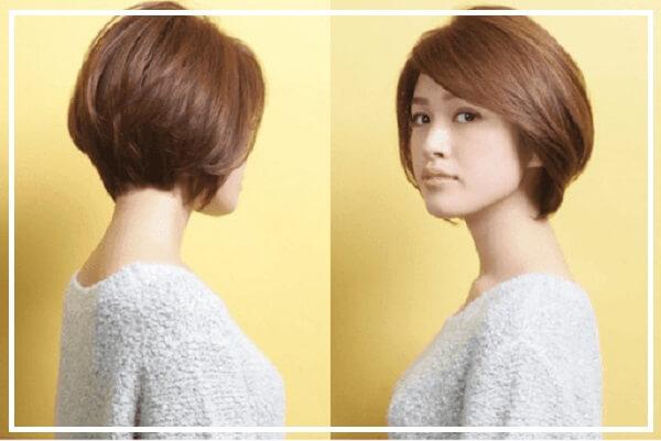 Kiểu tóc tomboy uốn phồng
