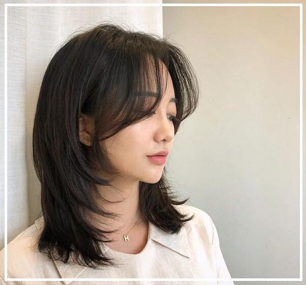 Kiểu tóc ngang vai cắt lớp
