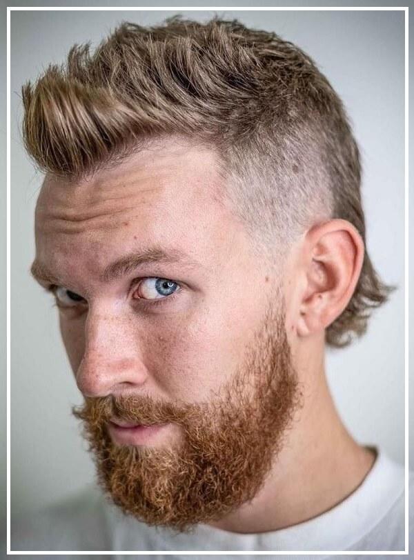 Kiểu tóc mullet nam ngắn dựng